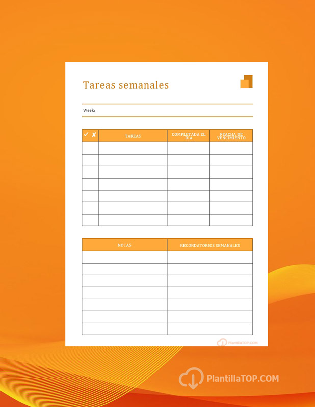 agenda tareas semanales