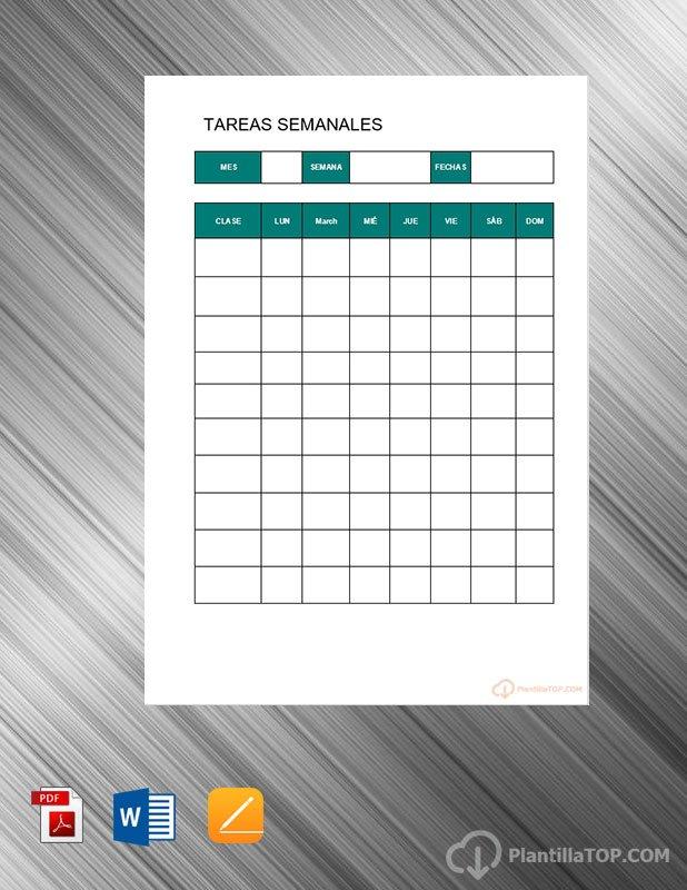 planificador tareas semanales