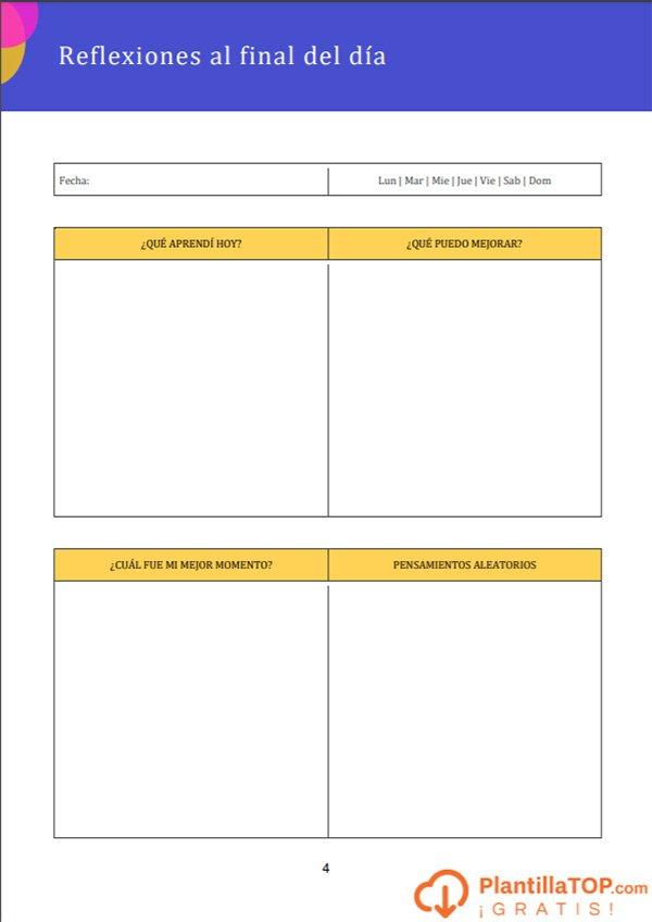 plantilla editable bullet journal gratis