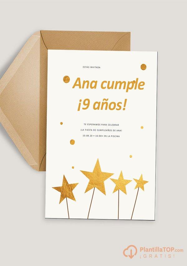 plantilla invitacion de cumpleaños infantil