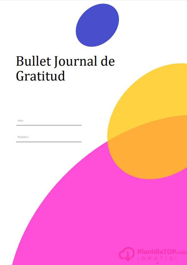 portada bullet journal para imprimir