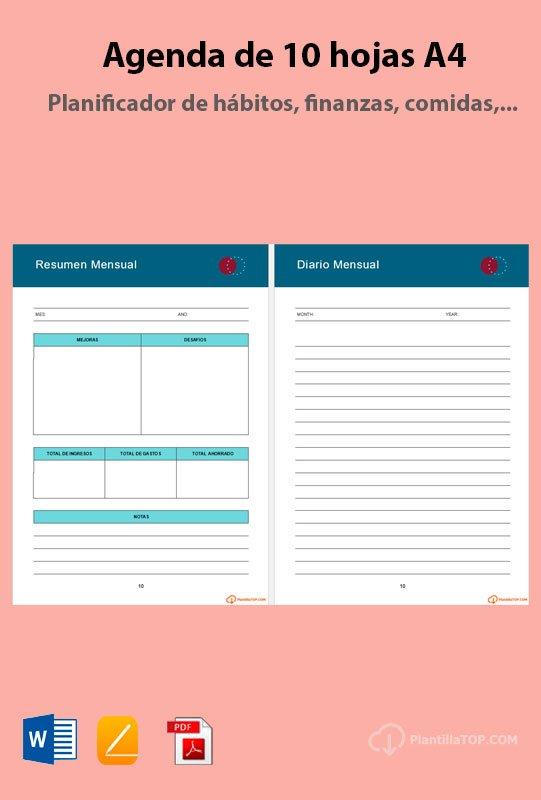 diario mensual word