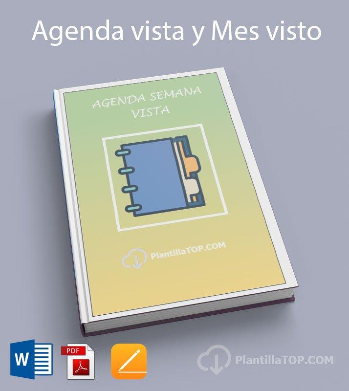 Plantilla Agenda Semana Vista