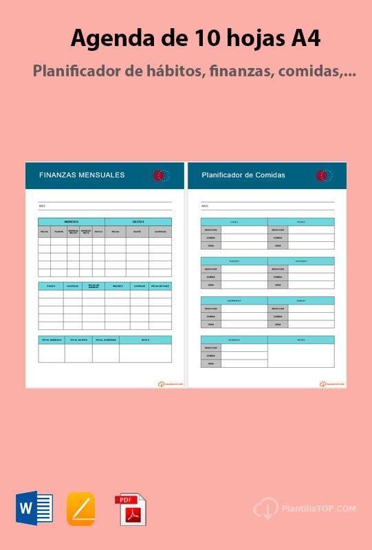 plantilla planning editable