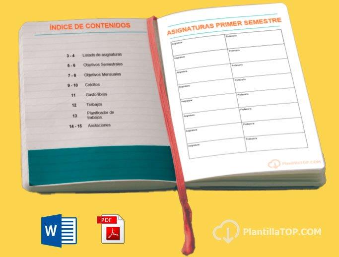 agenda contenidos para imprimir