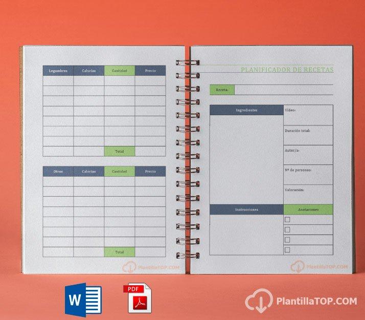 planificador menu pdf