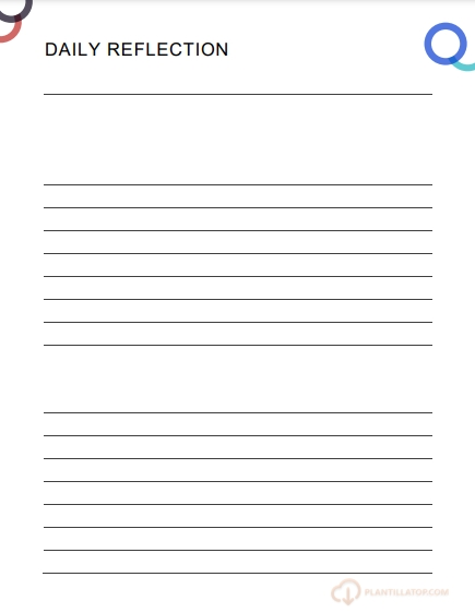 DAILY REFLECTION PLANNER