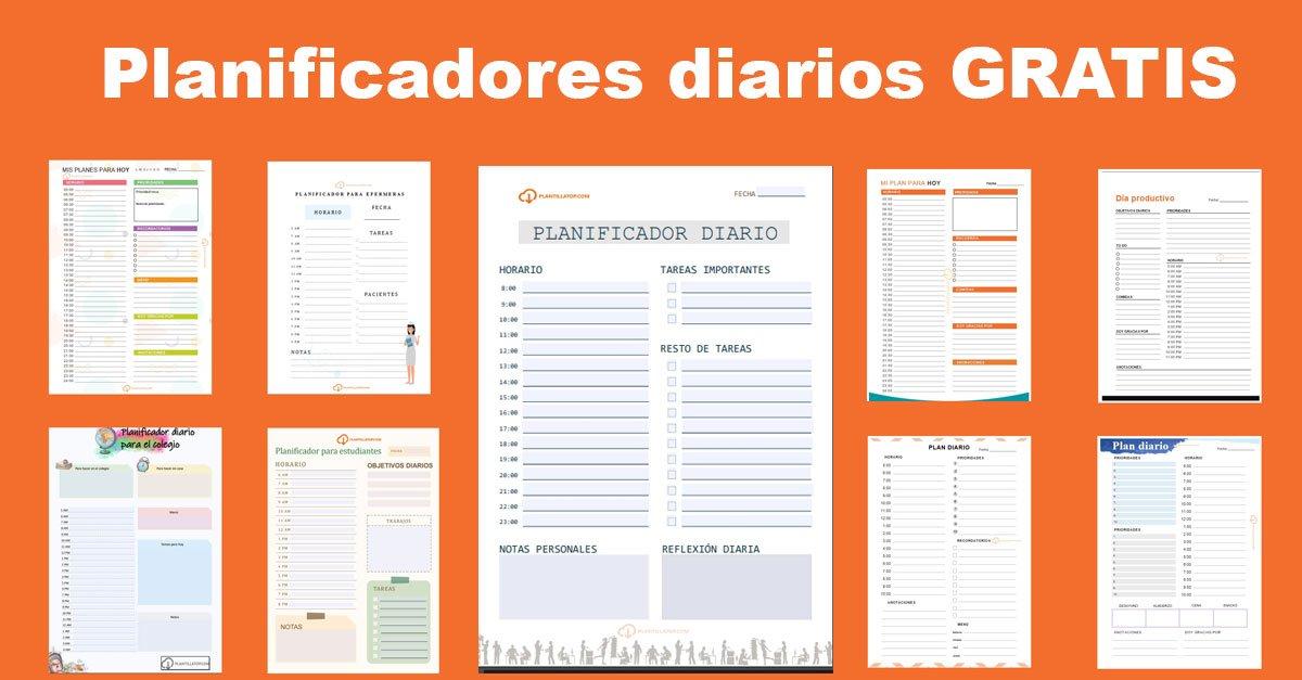 PLANIFICADORES DIARIOS POR HORAS GRATIS