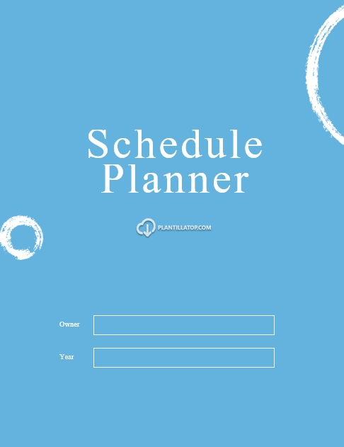 Activity schedule template with daily, weekly and monthly view