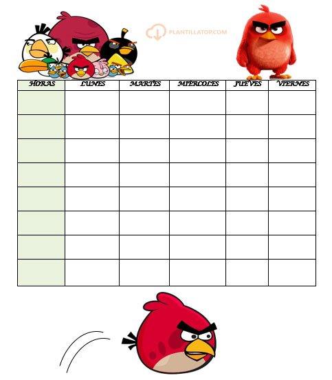 horario angry birds