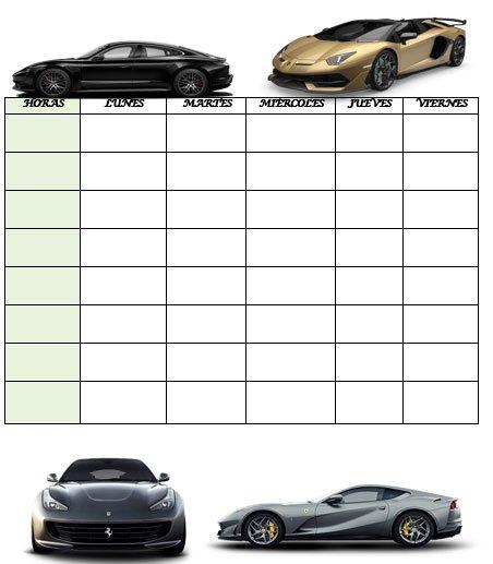 horario para el colegio con-coches