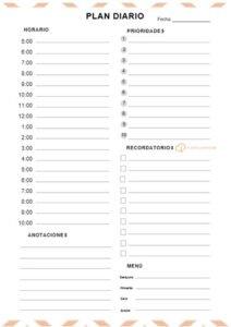 plan diario 10 prioridades